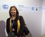 Dawn Reeves attending the U.N. Climate Conference in Paris. Photo provided by Dawn Reeves.